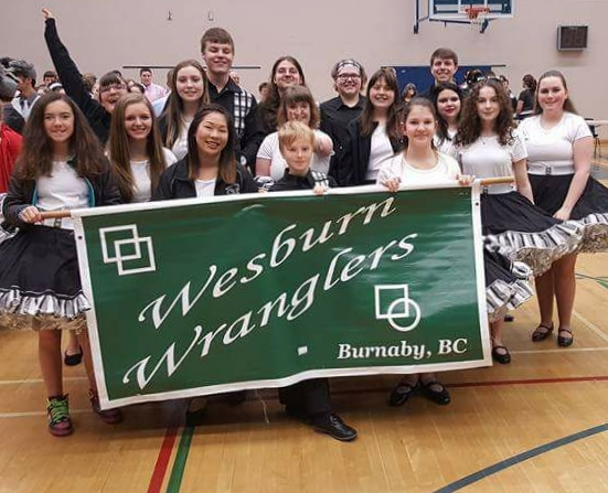 Wesburn Dancers with Banner at Teen Festival